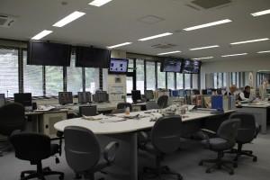 徳山ダム管理所内