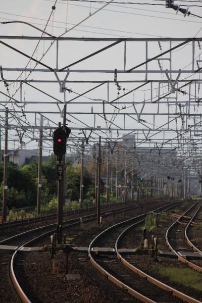 清洲駅から岐阜方面を望む