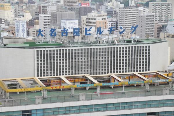 大名古屋ビルヂング屋上看板とビアガーデン「マイアミ」