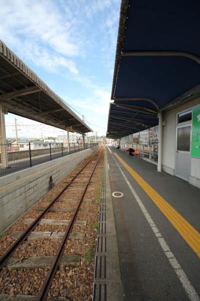 明知鉄道恵那駅ホーム