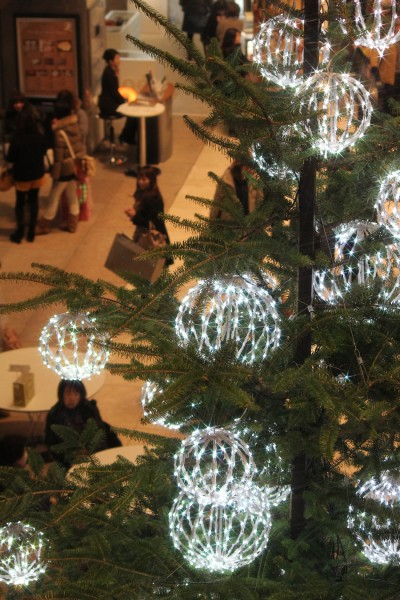 ミッドランドスクエア内のChloé スペシャル クリスマスツリー