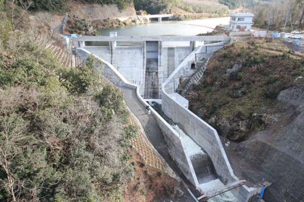 2012年大晦日の畑川ダム